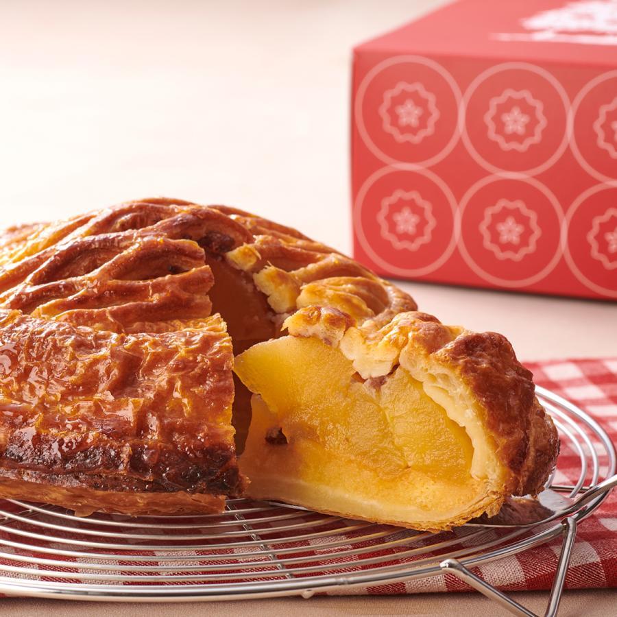 プレゼント りんご園で焼いた贅沢アップルパイ 奥久慈リンゴ ホール 送料込み 売買