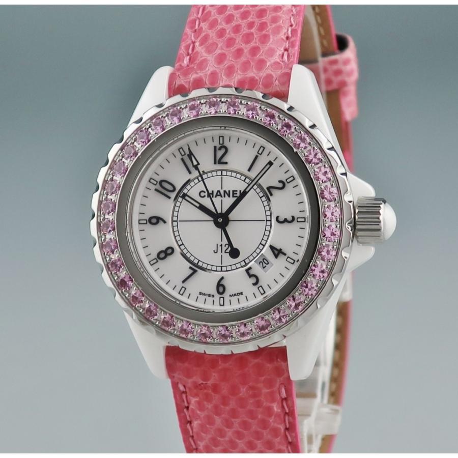 new arrival 3d139 ea122 3年保証 シャネル 時計 H1336 J12 純正ピンクサファイア 腕時計 ...