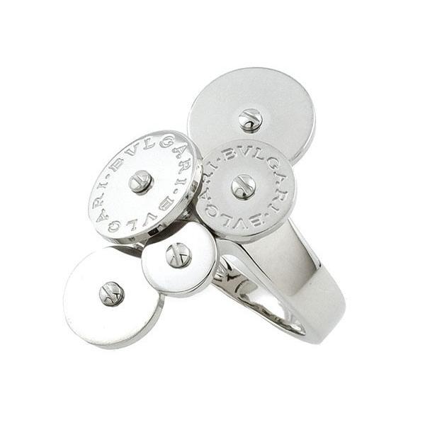激安通販新作 ブルガリ BVLGARI リング 指輪 チクラディリング K18WG 750 18金 ホワイトゴールド 約9号相当 レディース 女性用 定番 人気 美品, キタタカキグン e127fa98