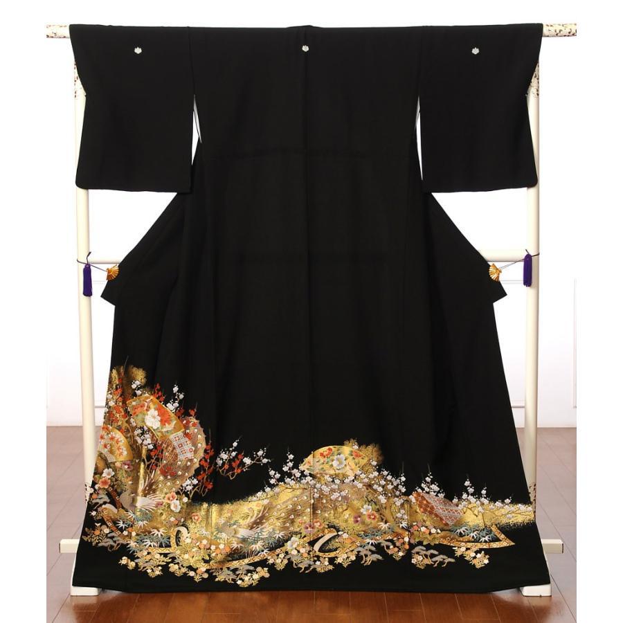 留袖 レンタル 黒留袖 フルセット 扇面 結婚式 江戸妻 母親|ibis