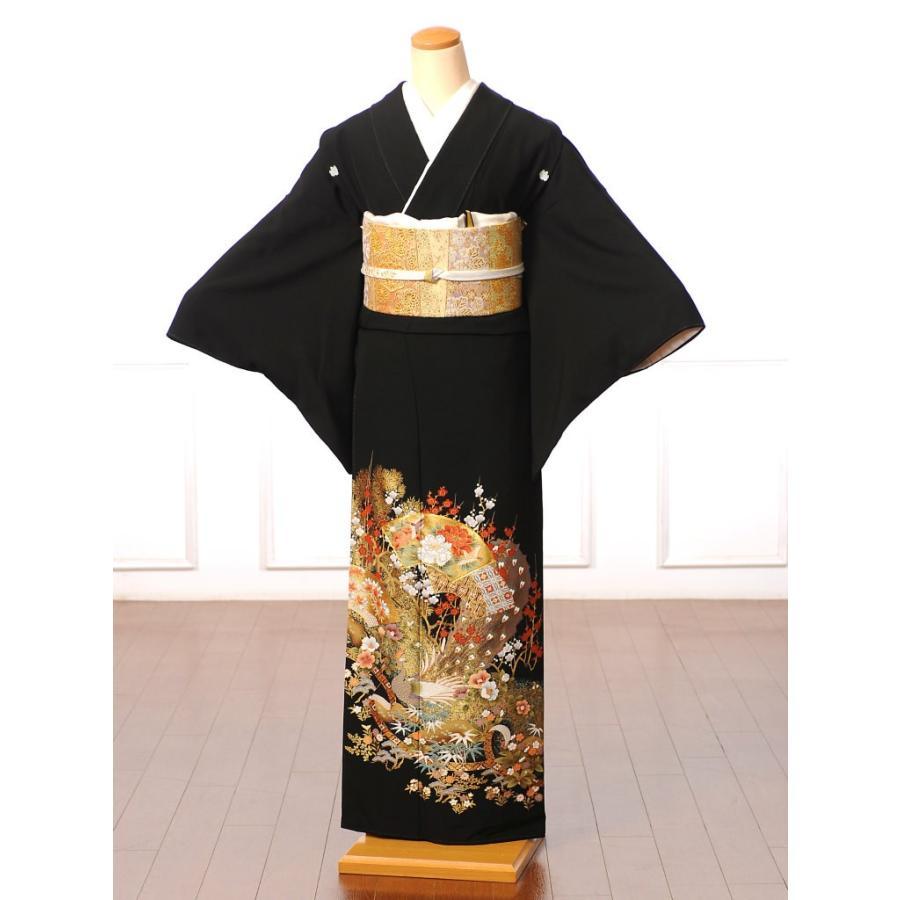 留袖 レンタル 黒留袖 フルセット 扇面 結婚式 江戸妻 母親|ibis|02