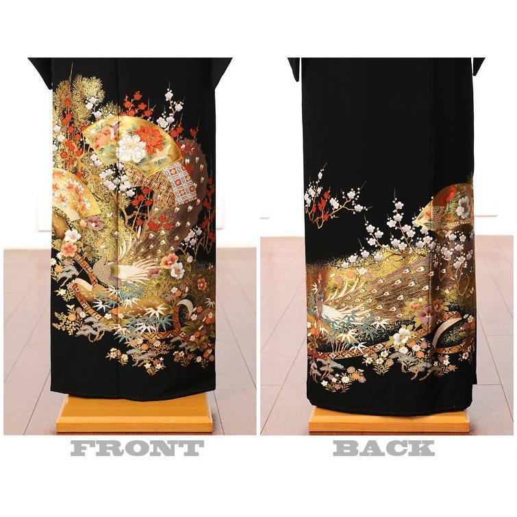 留袖 レンタル 黒留袖 フルセット 扇面 結婚式 江戸妻 母親|ibis|03