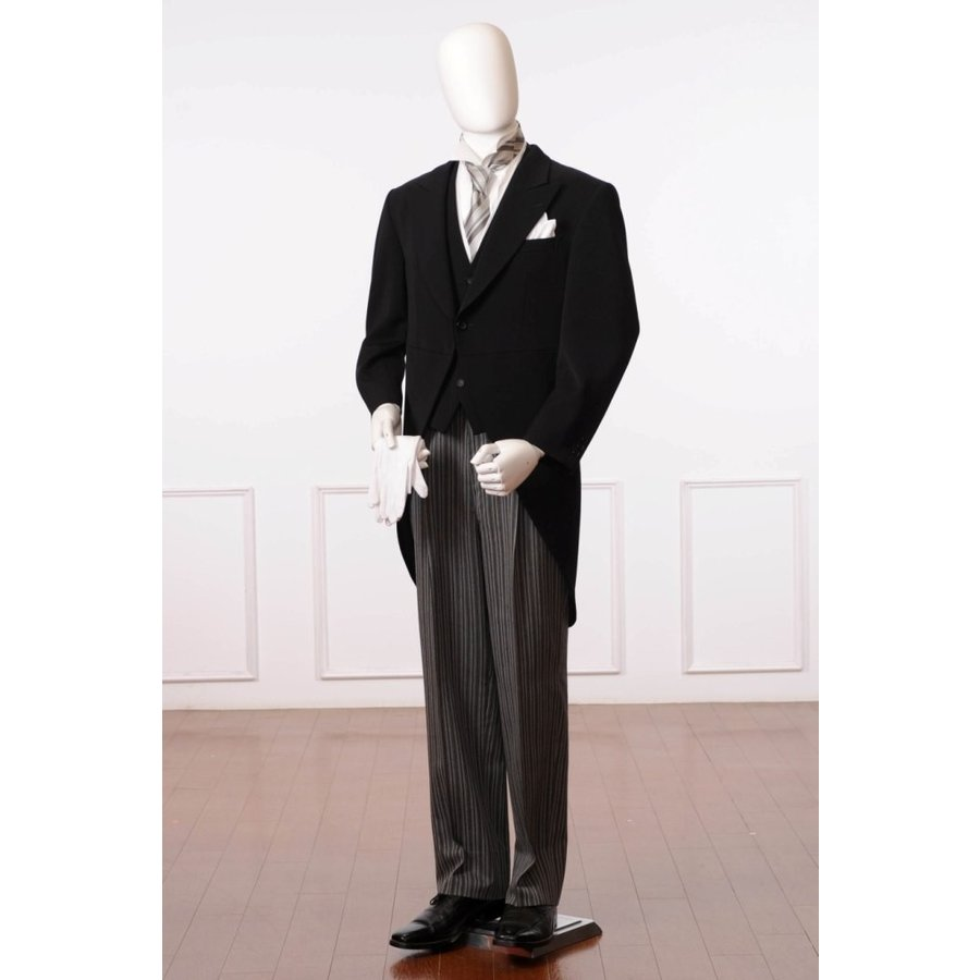 【留袖セット割引】留袖とモーニングの商品価格合計より10%割引 モーニングレンタル 8AX0001 レンタル11点セット モーニング 結婚式 貸衣装 父親 礼装 格安 ibis