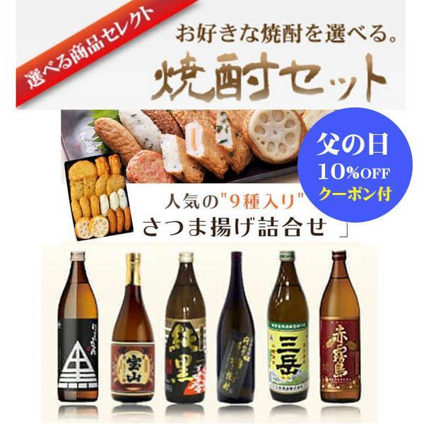 父の日 プレゼント ギフト さつま揚げ 芋焼酎  900ml 選べる セット  小田口屋|ibusukiya