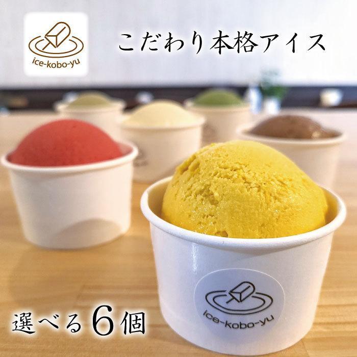ハロウィンに! 選べるアイス6個セット!【アイス工房 優】手作りジャージー牛乳アイスクリーム!各120ml ギフト|ice-kobo-yu