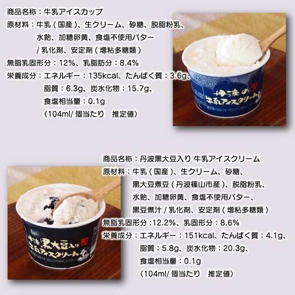 アイス ギフト ご当地 お取り寄せ 丹波篠山 黒豆 低温殺菌 牛乳:カップアイス12ケ ice-sasayama 06