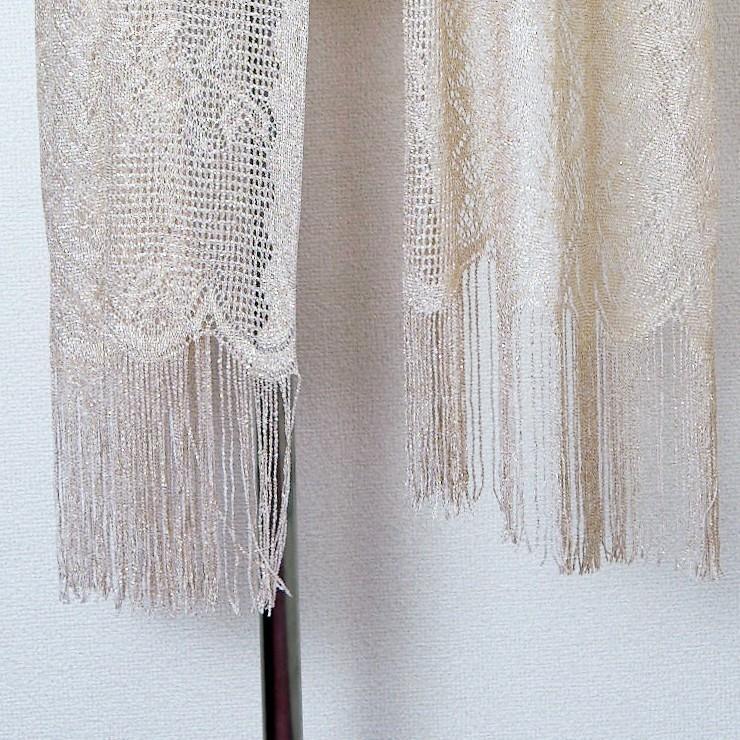 ストール ショール 結婚式 羽織物 お呼ばれ 大判ストール ラメ ボレロ  blr197056|icecrystal|06