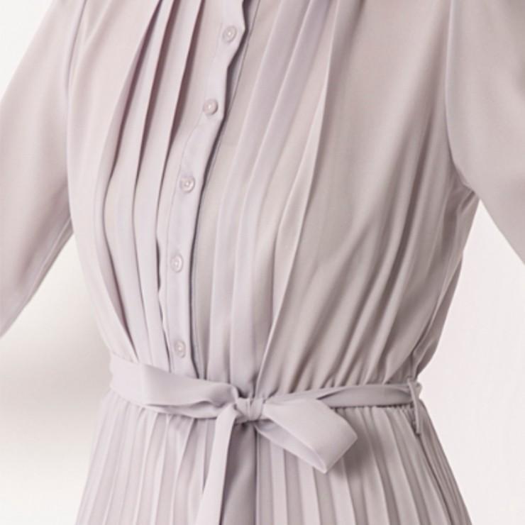 スタンド カラー プリーツ ロング ワンピース 結婚式 パーティードレス ドレス csy001|icecrystal|06