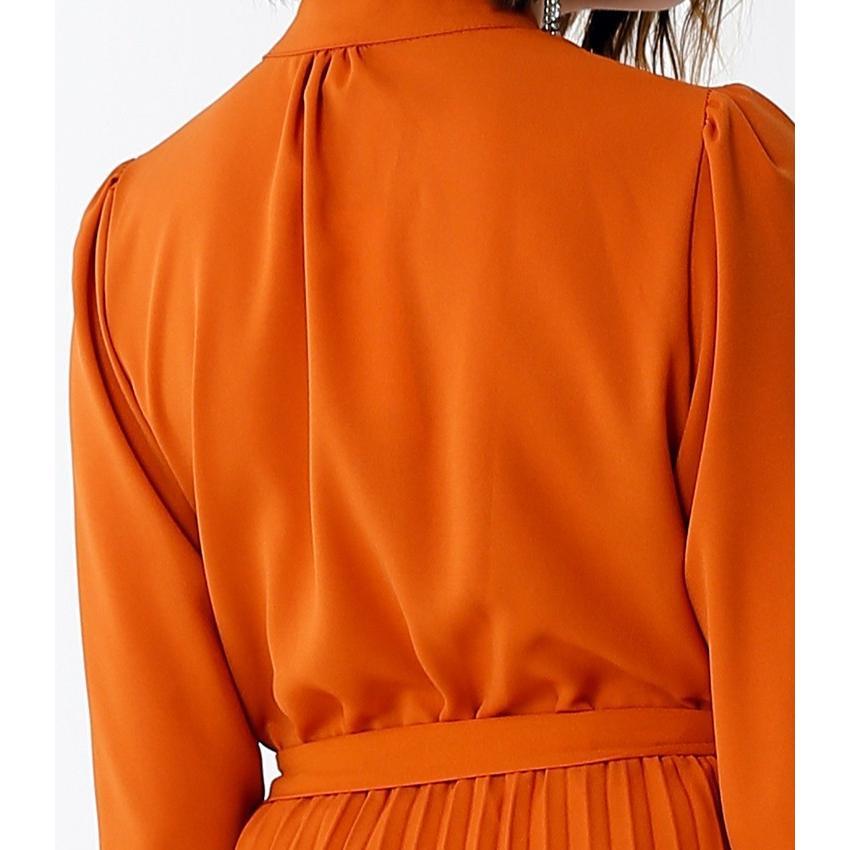 スタンド カラー プリーツ ロング ワンピース 結婚式 パーティードレス ドレス csy001|icecrystal|07