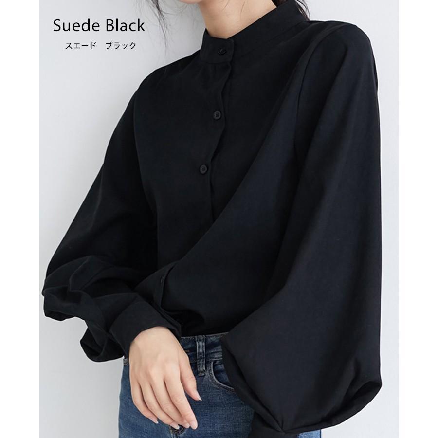 バルーン 袖 バンドカラー チュニック シャツ tops00020|icecrystal|14