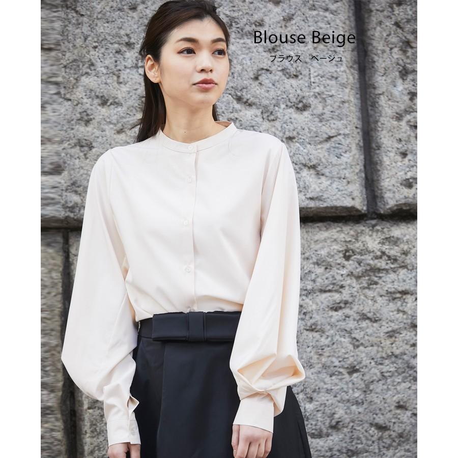 バルーン 袖 バンドカラー チュニック シャツ tops00020|icecrystal|18