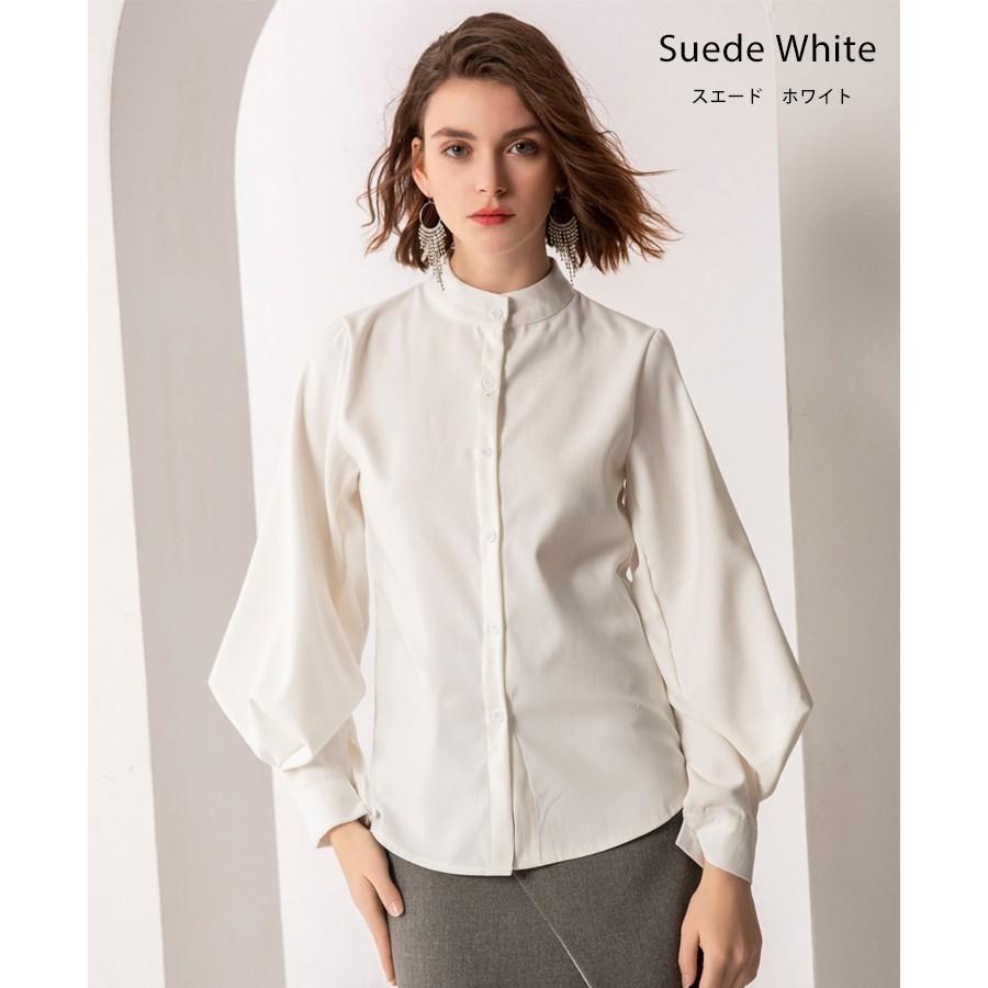 バルーン 袖 バンドカラー チュニック シャツ tops00020|icecrystal|10
