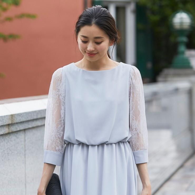 ワンピース パーティードレス 花柄 シースルー 結婚式 ドレス yimo105011 icecrystal 03