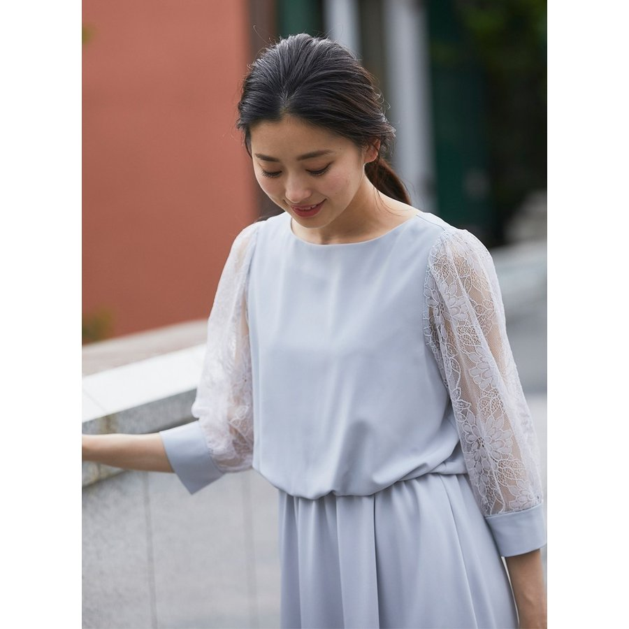 ワンピース パーティードレス 花柄 シースルー 結婚式 ドレス yimo105011 icecrystal 10