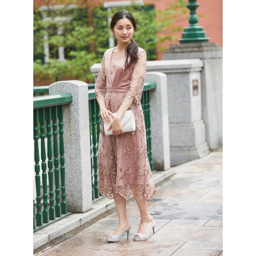 ワンピース パーティードレス 花柄 刺繍 シースルー 結婚式 ドレス yimo918068 icecrystal 13