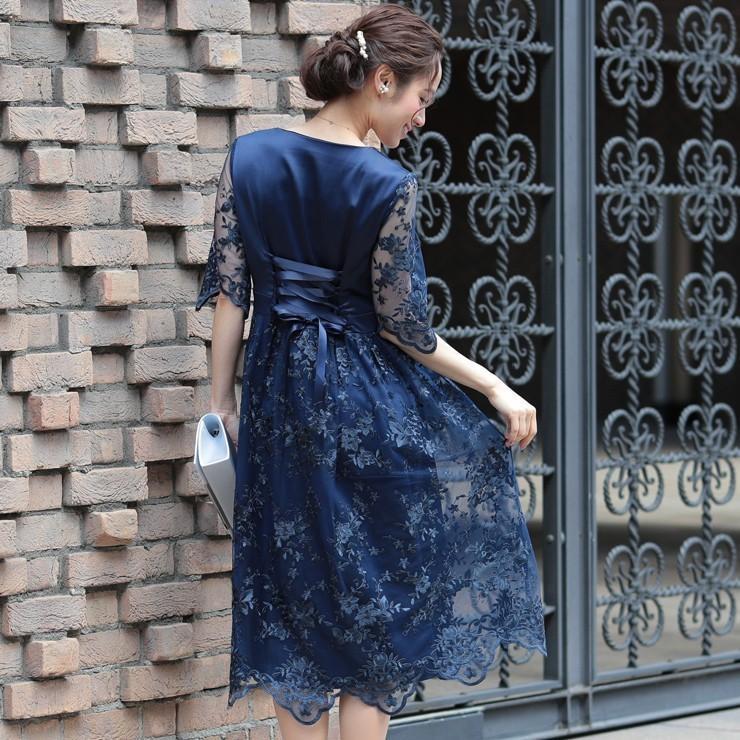 ワンピース パーティードレス 花柄 刺繍 シースルー 結婚式 ドレス yimo918068 icecrystal 15