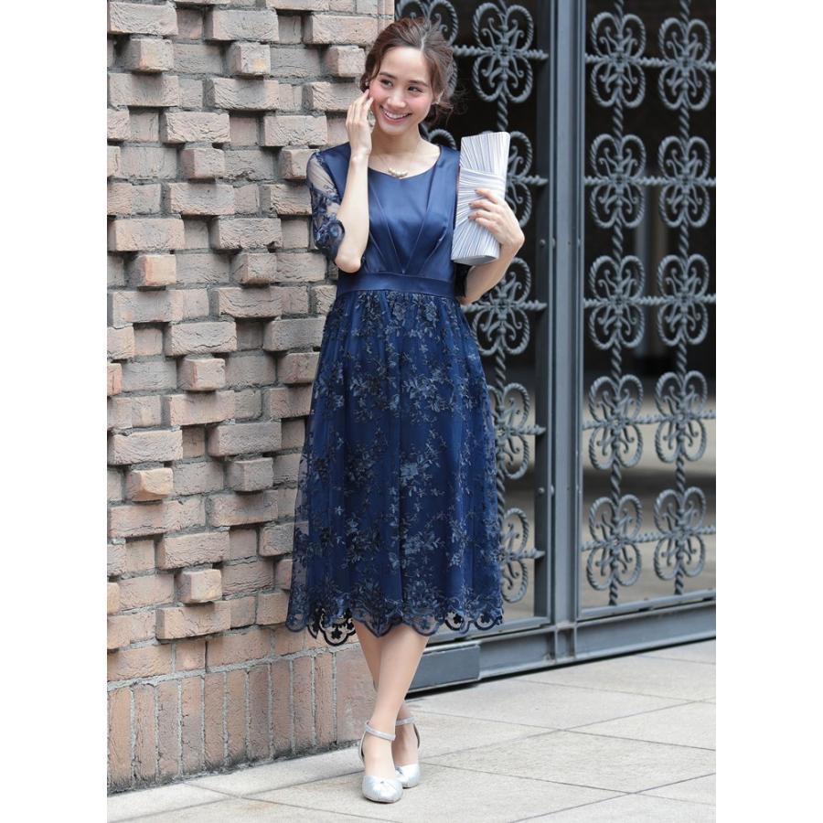 ワンピース パーティードレス 花柄 刺繍 シースルー 結婚式 ドレス yimo918068 icecrystal 16
