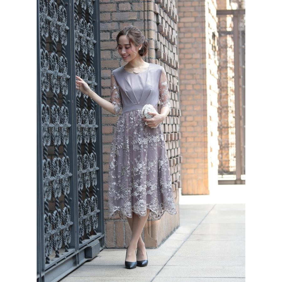 ワンピース パーティードレス 花柄 刺繍 シースルー 結婚式 ドレス yimo918068 icecrystal 09