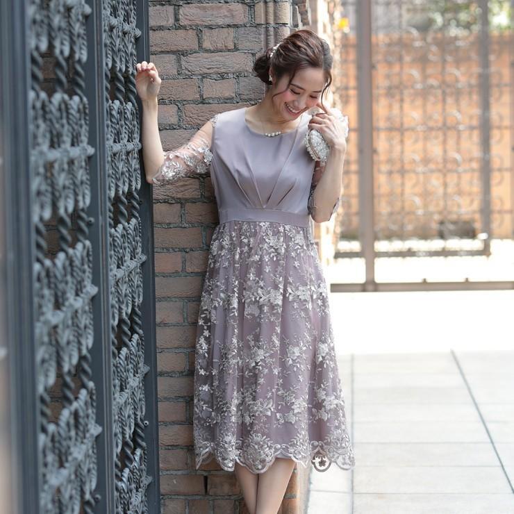 ワンピース パーティードレス 花柄 刺繍 シースルー 結婚式 ドレス yimo918068 icecrystal 10