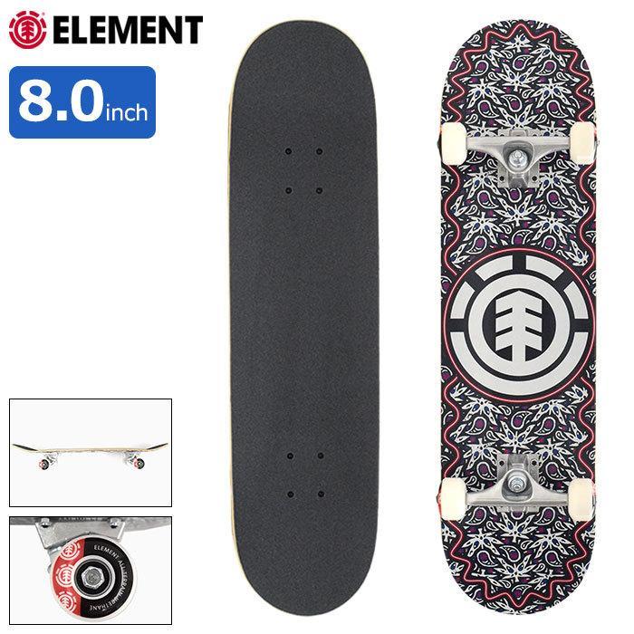 エレメント スケボー 激安通販専門店 定番キャンバス スケートボード ELEMENT コンプリート デッキ Paisel 8.0インチ 国内正規品 8.0inch BB027-413 組み立て済み 完成品