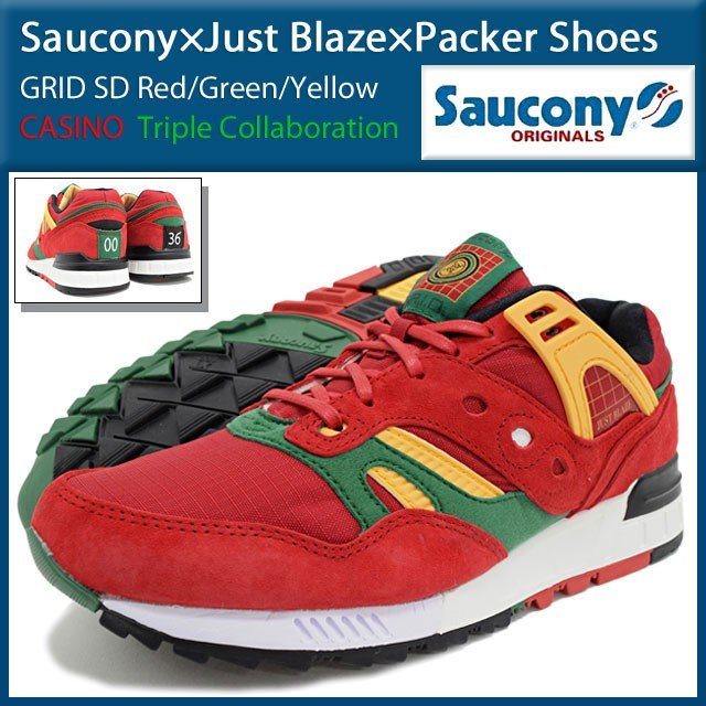 SAUCONY x JUST BLAZE x PACKER SHOES GRID SD CASINO SD S70226-1