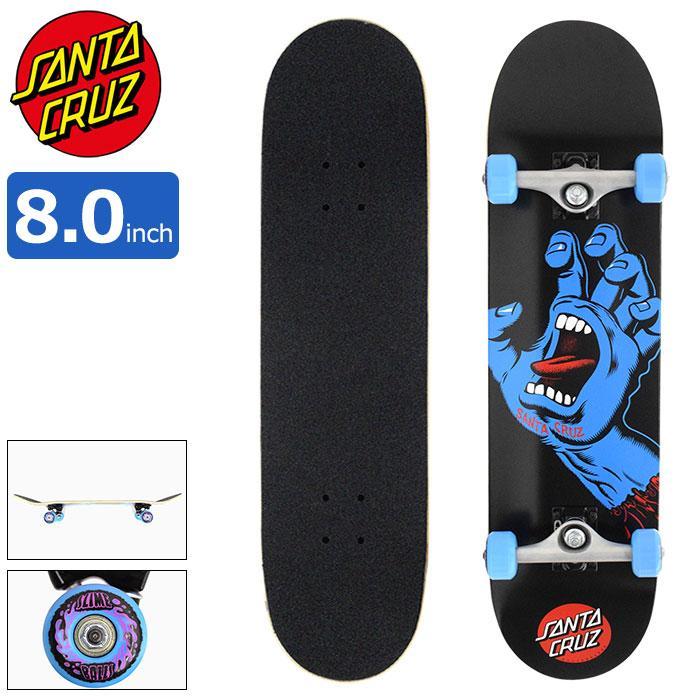 8 19入荷予定 サンタクルーズ 爆売りセール開催中 スケボー 期間限定特別価格 スケートボード SANTA CRUZ Screaming 8.0インチ デッキ Hand × 31.25インチ コンプリート