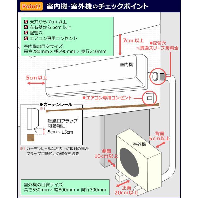 【標準取付工事セット】2021年 最新モデル 冷暖房エアコン 国内メーカー 新品 6畳用 2.2kw(100V・15A)送料無料・工事費込! ichiban-air 04