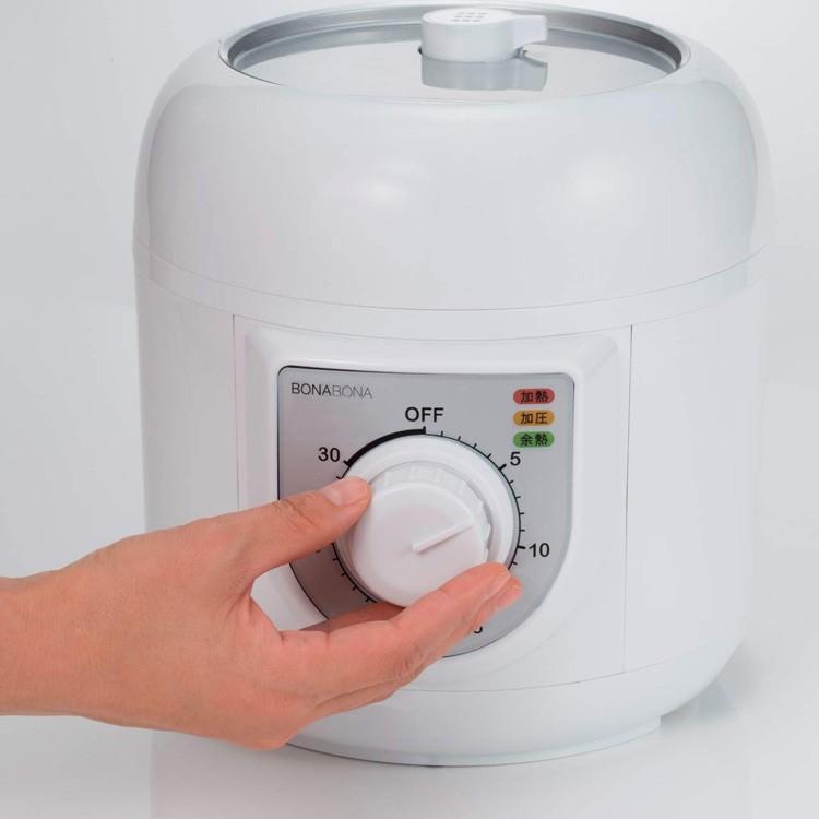 電気圧力鍋 BONABONA 容量1.3L 電気鍋 圧力鍋 新生活 電気 ダイヤル式 火加減おまかせ レシピブック付き CCP シーシーピー BD-PC72WH ichibankanshop 04