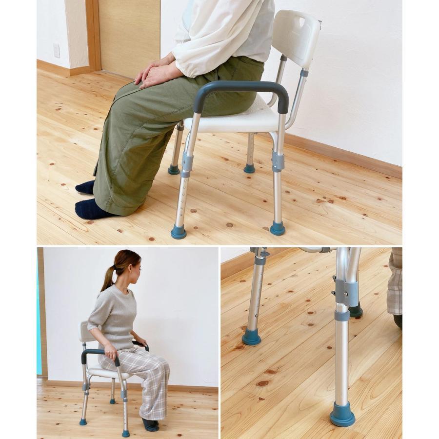 シャワーチェア シャワーベンチ チェアー 介護用 背もたれ お風呂 椅子 高さ6段階調節 シャワーイス 背付き 肘掛け 肘つき SunRuck SR-SBC018|ichibankanshop|12