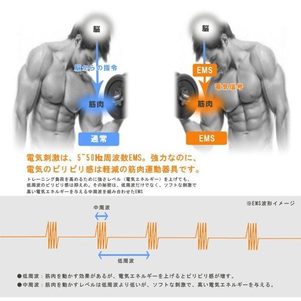 腹筋ベルト  充電式 腹筋 ベルト EMS トレーニング アクティブパッド 家トレ 15段階パワー 男女兼用 ボディ SOUYI SY-081N|ichibankanshop|03
