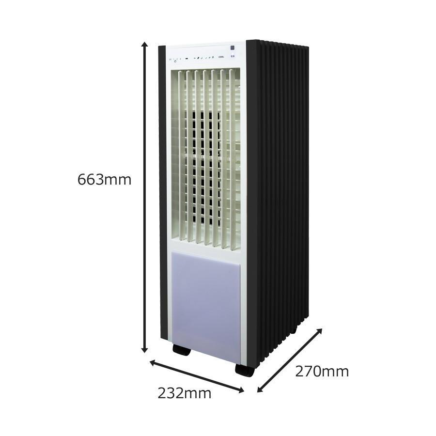 冷風扇 冷風扇風機 保冷剤 タワー型 リモコン付き 静音設計 静か 風量切替 抗菌 氷 おしゃれ タイマー付 テクノス TEKNOS ひんやり 左右 首振り 自然風 TCW-030 ichibankanshop 04