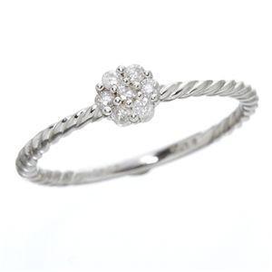 素敵な K14ホワイトゴールド ダイヤリング 指輪 15号(同梱・), カワバムラ 8b7ca46e