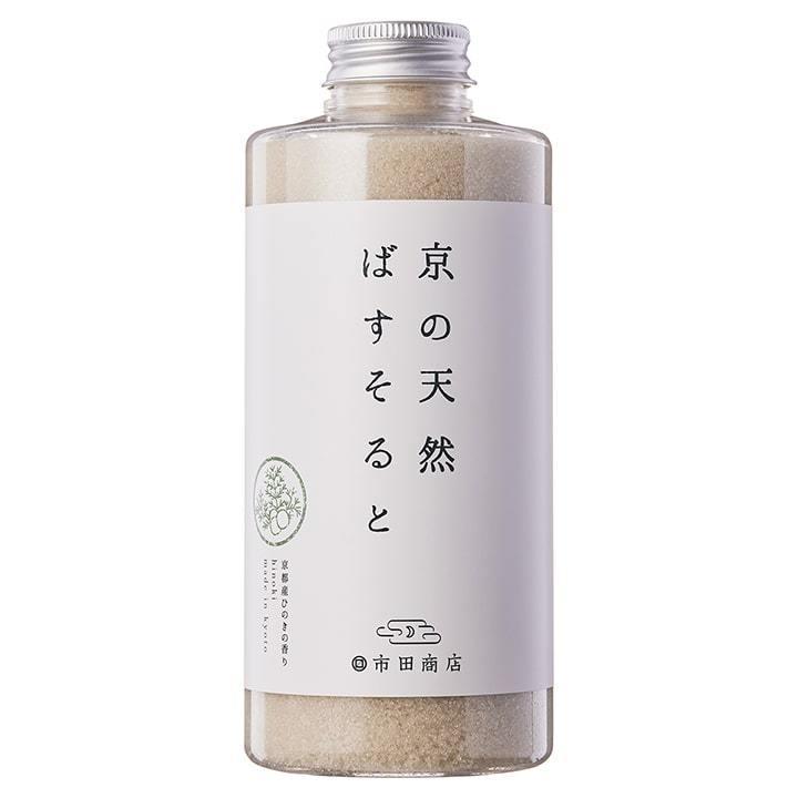 市田商店 浴用バスソルト 京の天然ばすそると 京都産ひのきの香り 700g|ichida-kyoto