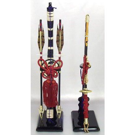 五月人形 道具 単品 兜飾 鎧飾 五月人形用 弓太刀 赤紐 13号
