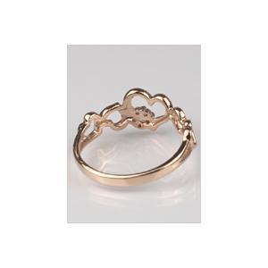 18金 リング 指輪 ダイヤモンド ハートリング K18 ピンクゴールド 4月誕生石 18K ( 誕生日プレゼント 女性 レディース )|ichigo|03