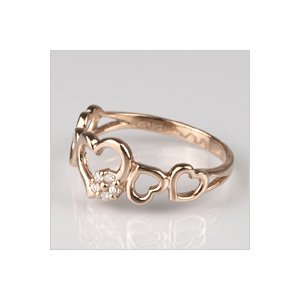 18金 リング 指輪 ダイヤモンド ハートリング K18 ピンクゴールド 4月誕生石 18K ( 誕生日プレゼント 女性 レディース )|ichigo|04