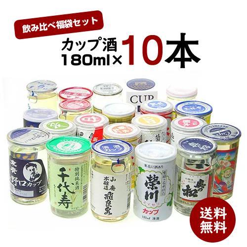 日本酒 飲み比べ 日本酒セット カップ酒 引出物 10本 送料無料 ギフト 内祝い プレゼント 180ml×10本