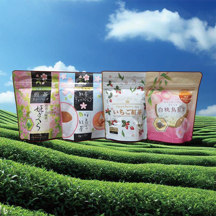選べる フレーバーティー 紅茶 烏龍茶 煎茶 緑茶 3個 セット ティーバッグ いちご レモン 白桃 桜 送料無料 ichijo