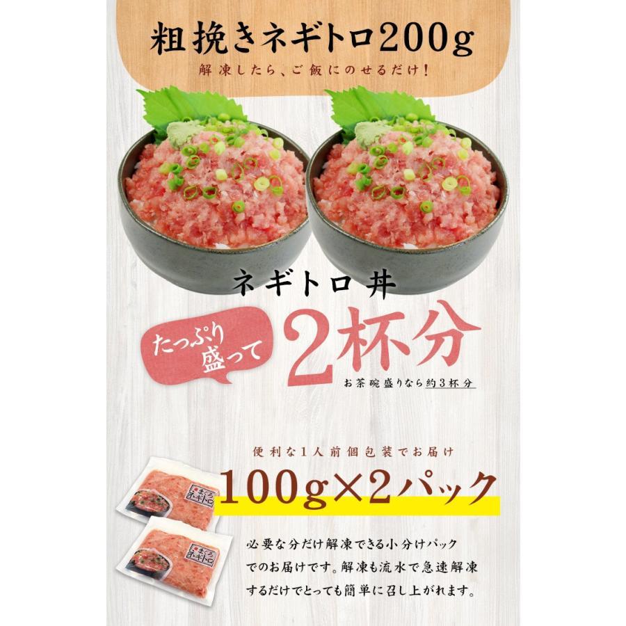 マグロ まぐろ 海鮮丼 天然マグロ粗挽きネギトロ100g×2パック 送料無料《ref-nd1》〈nd1〉yd5[[ネギトロ100g-2p] ichijyo 06
