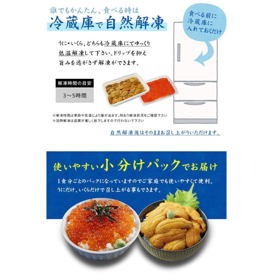 お歳暮 ギフト プレゼント 無添加うに&北海道産いくらセット 送料無料 《ref-ur1》 yd5[[ウニイクラセット-2p] ichijyo 11