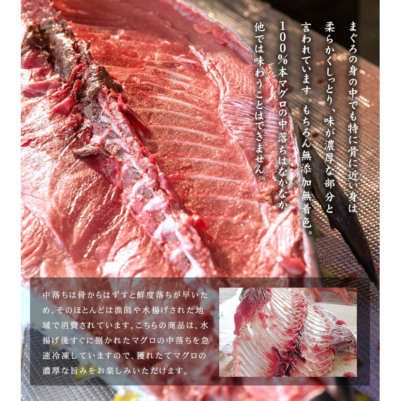 本マグロ骨付き中落ち1kg(可食部500〜600g)解凍レシピ付き yd9[[本鮪骨付き中落ち1kg]|ichijyo|05