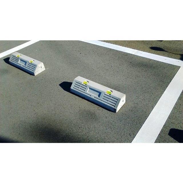 コンクリート製車止めブロック 反射板付 パーキングブロック ※10本以上の場合は注文時に送料計算致します 休み 事前の問い合わせも可能です 格安SALEスタート