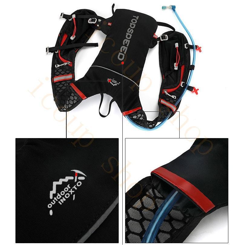 ランニングバッグ リュック 撥水加工 ハイドレーション サイクリングバッグ サイクルバッグ アウトドア 大容量 ジョギング 超軽量 ユニセックス バッグ|icoup|13