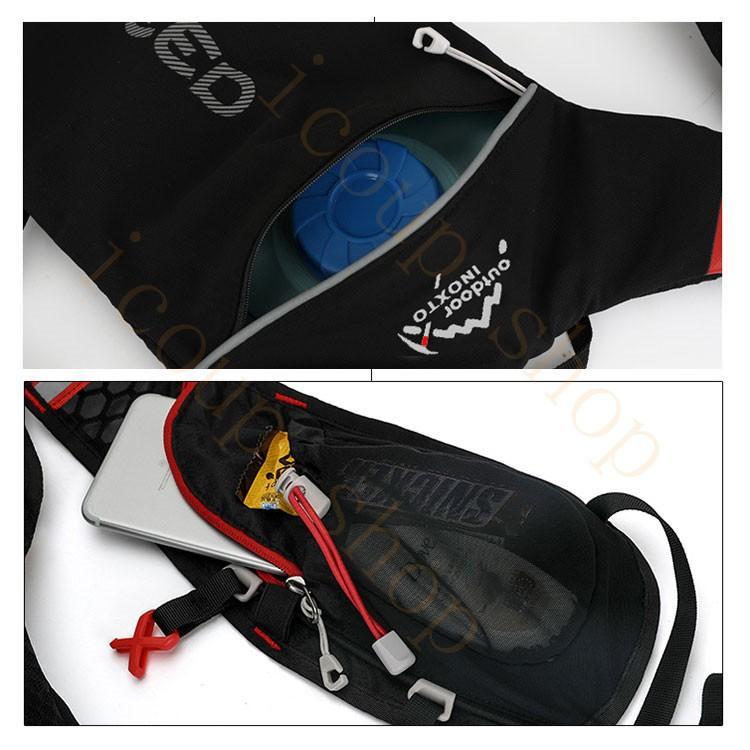 ランニングバッグ リュック 撥水加工 ハイドレーション サイクリングバッグ サイクルバッグ アウトドア 大容量 ジョギング 超軽量 ユニセックス バッグ|icoup|14