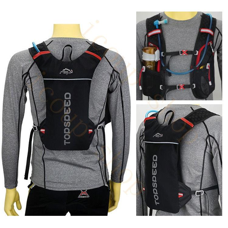 ランニングバッグ リュック 撥水加工 ハイドレーション サイクリングバッグ サイクルバッグ アウトドア 大容量 ジョギング 超軽量 ユニセックス バッグ|icoup|10