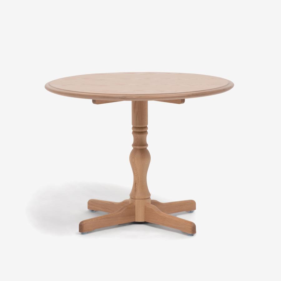 ダイニングテーブル 1本脚 丸テーブル T-5651 白木塗装 ナラ 大塚家具(IDC OTSUKA)