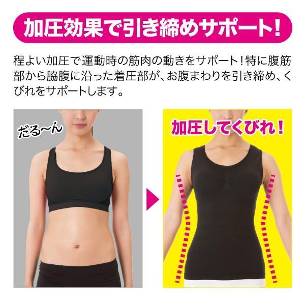 シックスパックシェイプインナー メーカー正規品 コンプレッションインナー 腹筋女子 下腹 加圧 引き締め|idea-info|04