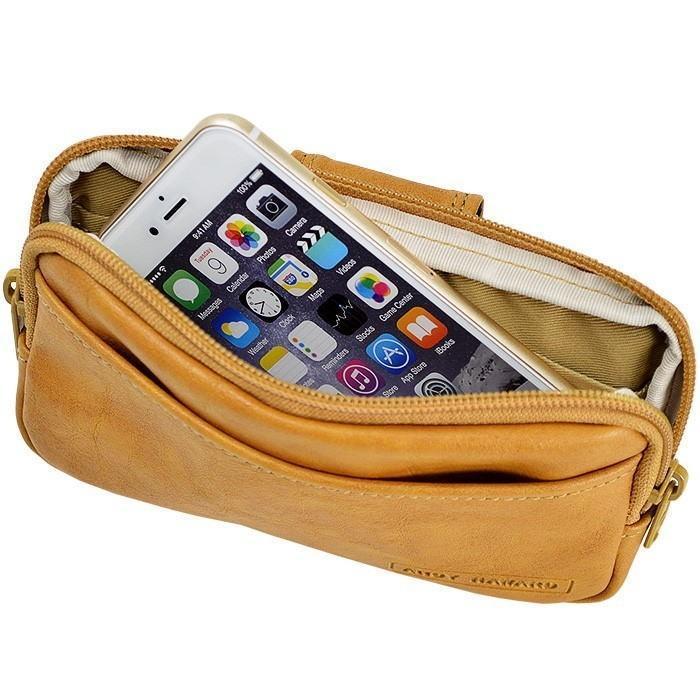 ウエストポーチ ヒップバッグ ウエストバッグ ベルトポーチ アンディハワード 17cm 日本製 メンズ 薄マチ 薄型 スマホ 25865|ideal-bag|02
