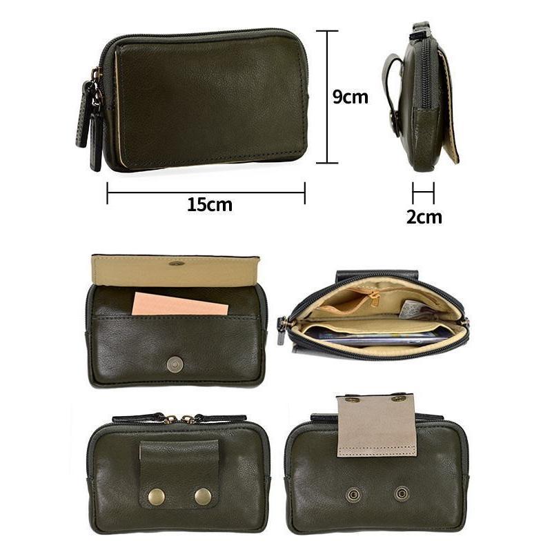 ベルトポーチ ウエストポーチ ヒップバッグ ウエストバッグ ブレザークラブ 本革 15cm 薄型 薄マチ スマホケース 日本製 メンズ 25851|ideal-bag|02