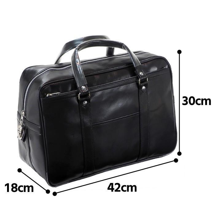 銀行ボストン ビジネスバッグ 10445 業務用 ボストンバッグ ボストンバック メンズ b4 銀行 日本製 豊岡製 42cm  送料無料 ideal-bag 12